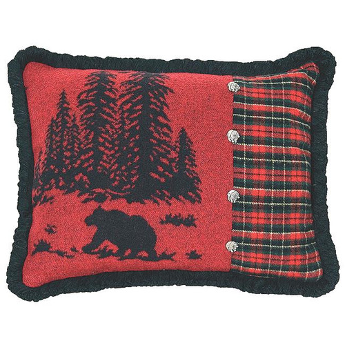 Wooded River Bear 5 Rectangle Pillow
