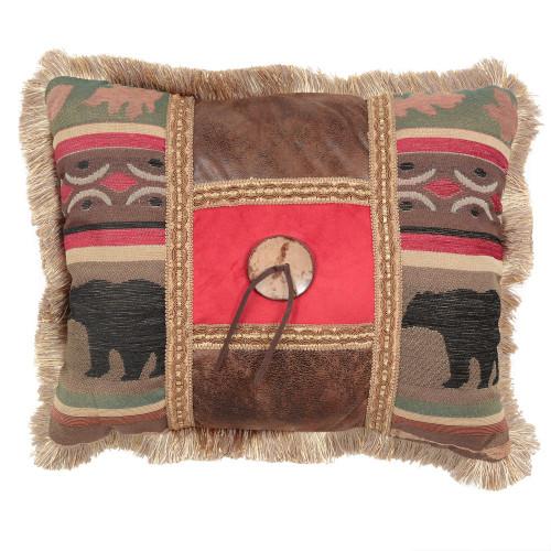 Yukon River Bamboo Button Pillow