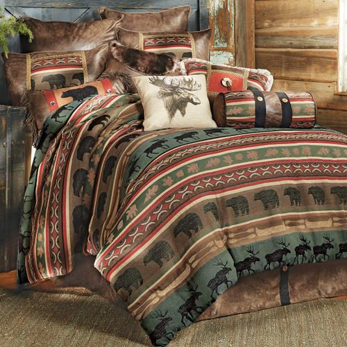 Yukon River Bear & Moose Bed Set - Queen