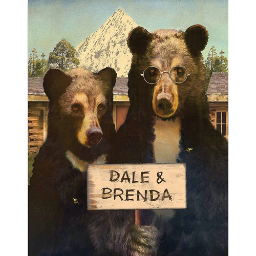 Bearly Gothic Personalized Wall Art