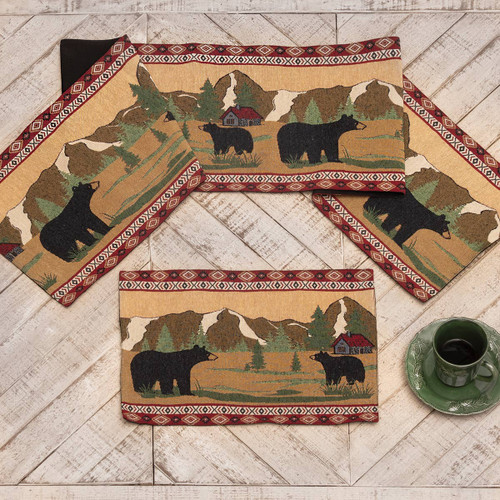 Mountain View Bears Table Linens