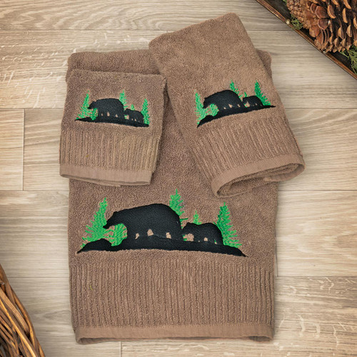 Evergreen Bears Towel Collection