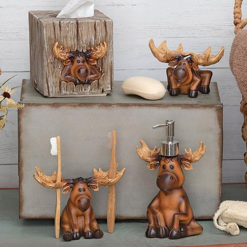 Mountain Moose Bathroom Accessories