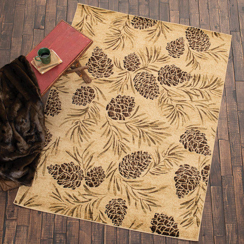 Natural Pinecones Rug Collection