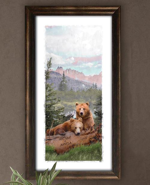 Rocky Mountain Bears Personalized Wall Art