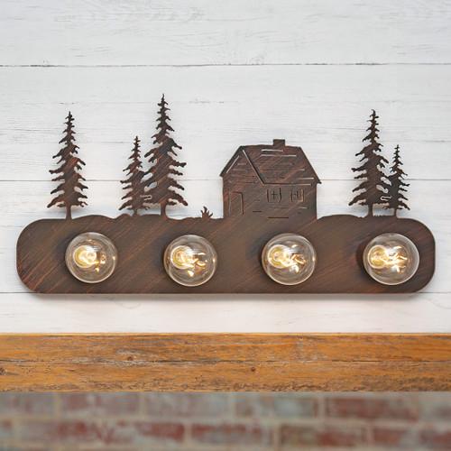 Forest Cabin Metal Vanity Lights