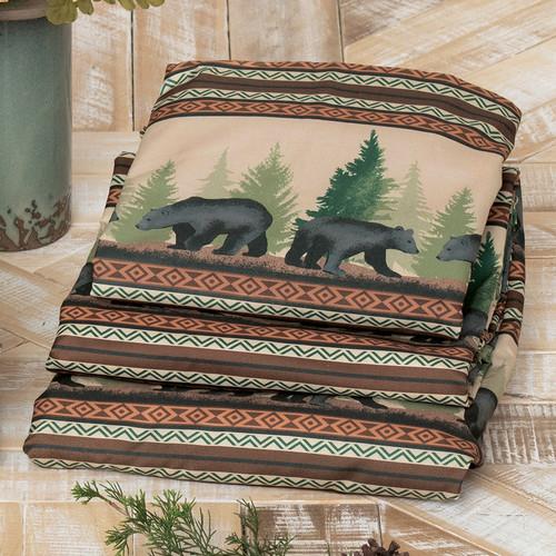 Timberline Bear Sheet Set - King