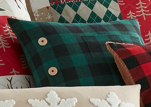 Forest Plaid Pillow