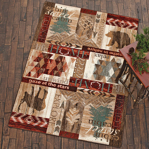 Cabin Collage Rug - 8 x 11