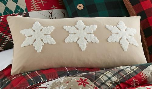 Winter Snowflakes Pillow