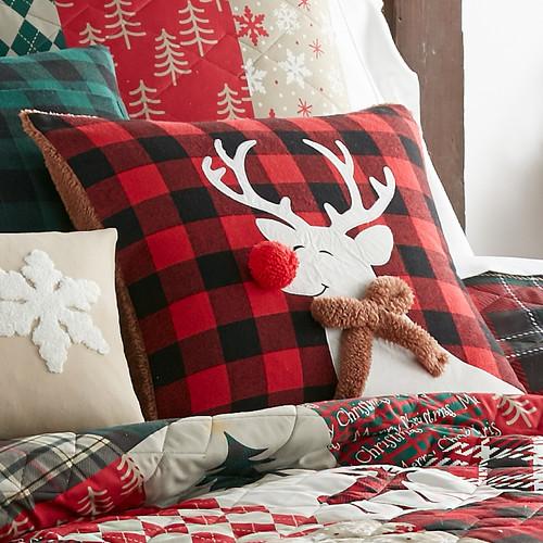 Holiday Reindeer Pillow