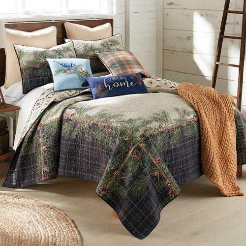 Pinecone Lodge Quilt Set - Queen