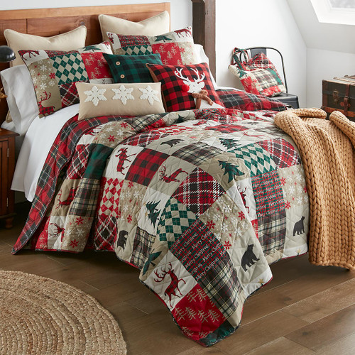 Lodge Holiday Quilt Set - Twin