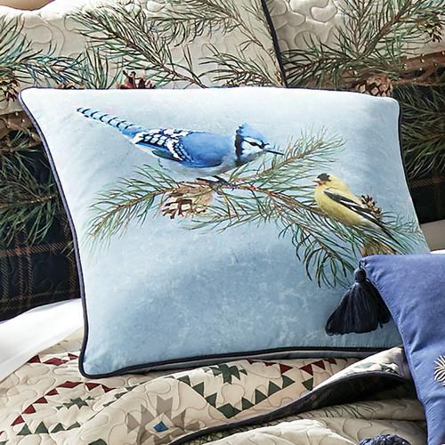 Colorful Birds Pillow