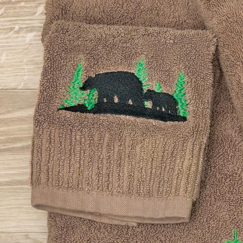Evergreen Bears Washcloth