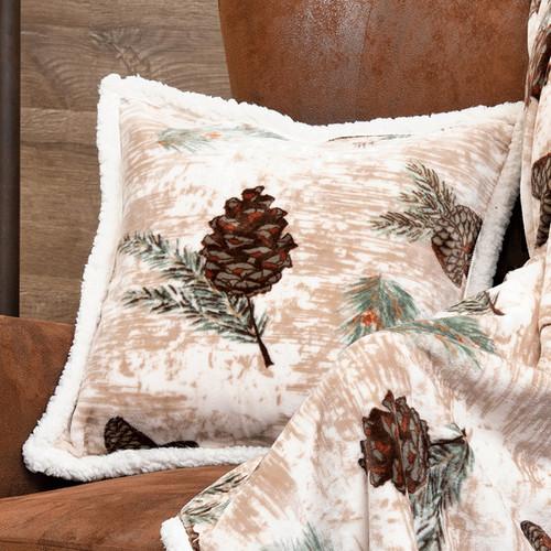Pinecone Medley Plush Pillow