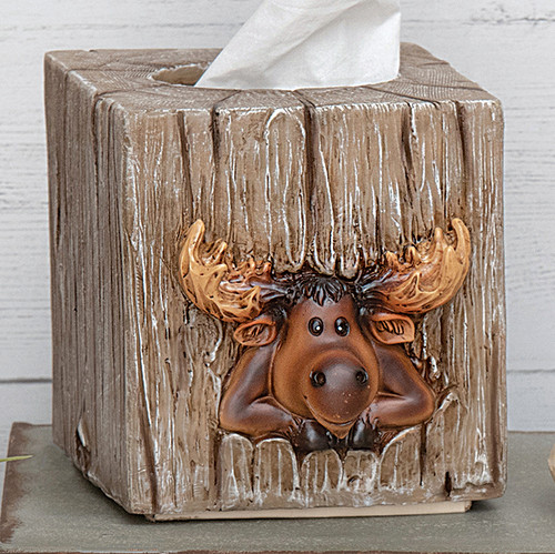 Mountain Moose Tissue Box - BACKORDERED UNTIL 11/12/2021