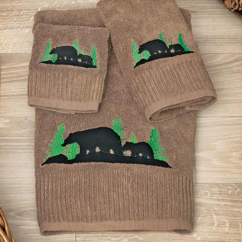 Evergreen Bears Bath Towel