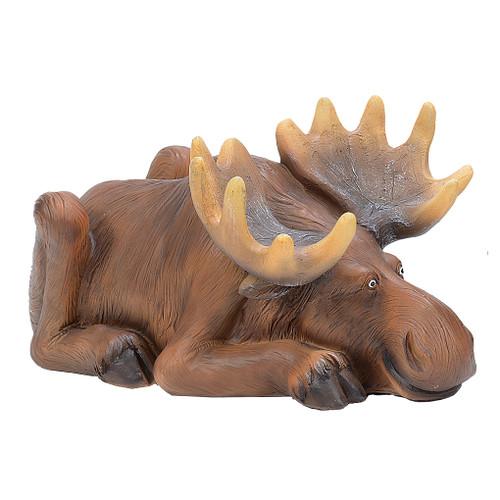 Resting Moose Figurine