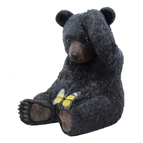 Bear with Butterfly Figurine