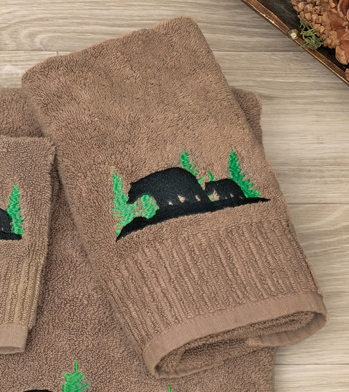 Evergreen Bears Hand Towel
