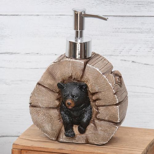 Tree Stump Bear Lotion Pump