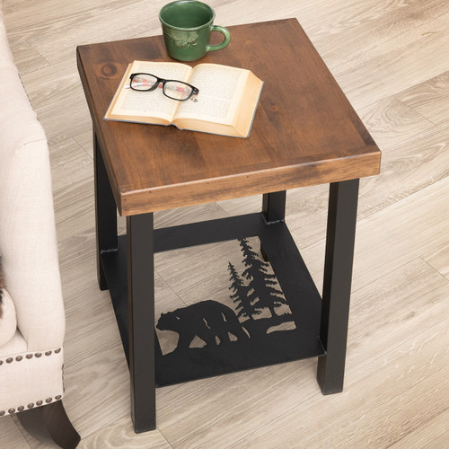 Pine Woods Bear End Table