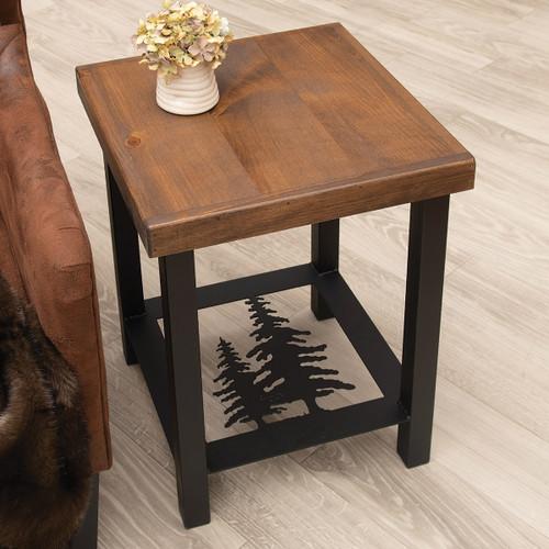 Pine Tree Shadows End Table