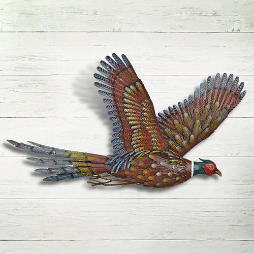 Pheasant Metal Art Wall Hanging