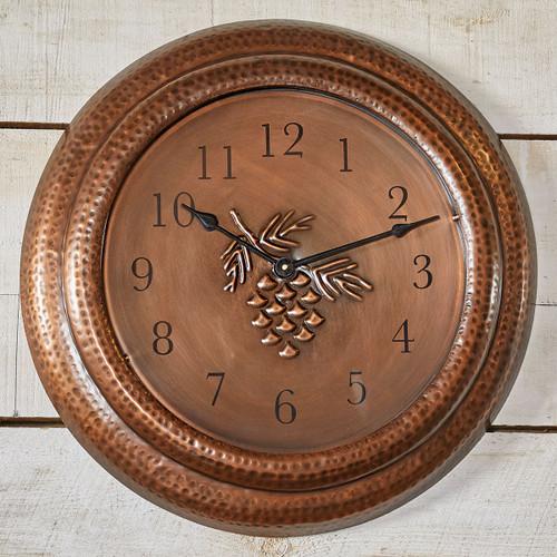 Sienna Pinecone Metal Wall Clock