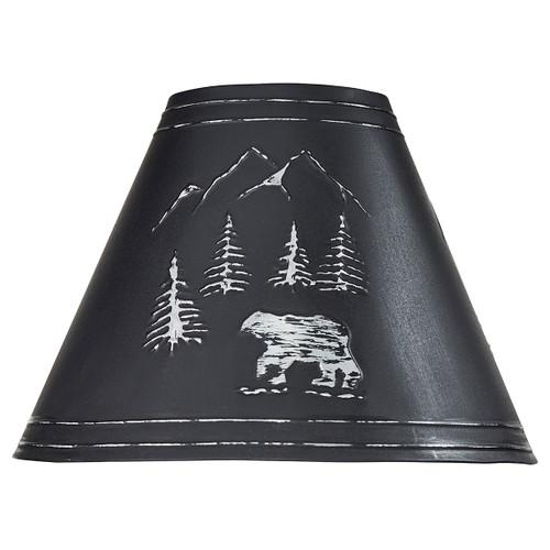 Black Bear Metal Lamp Shade - 12 Inch - BACKORDERED UNTIL 12/3/2021
