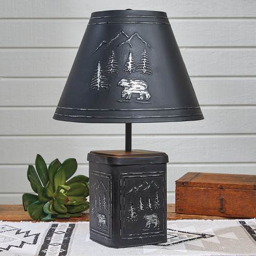 Black Bear Metal Lamp with Shade - BACKORDERED UNTIL 12/10/2021