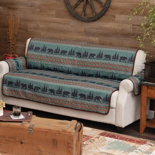 High Mountain Bear Sofa Cover