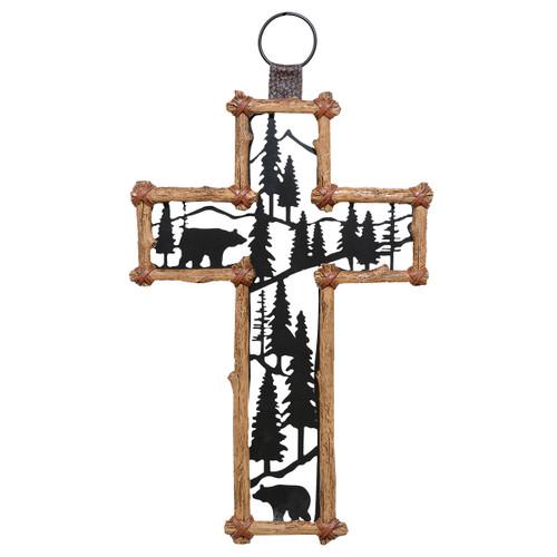 Wilderness Bears Wall Cross