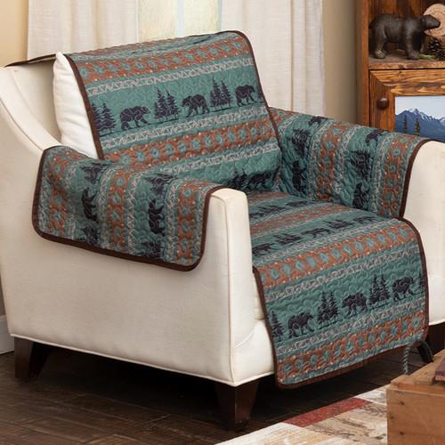 High Mountain Bear Chair Cover