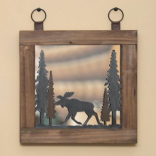 Woodland Moose Mirror
