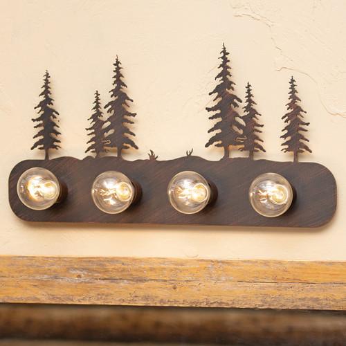 Pine Trees Metal Vanity - 6 Light