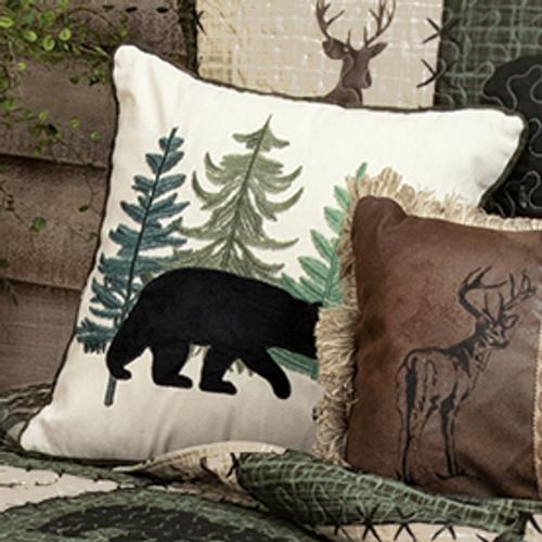 Bear & Cub Forest Pillow