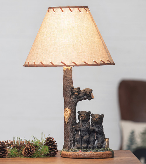 Bear Fishing Trip Accent Lamp