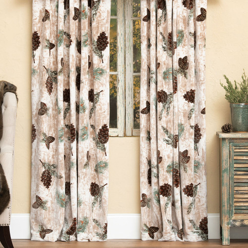 Pinecone Medley Plush Drapes - BACKORDERED UNTIL 1/21/2022