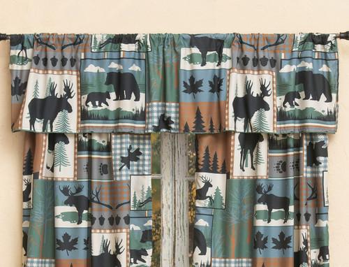 Twilight Woods Bear & Moose Valance