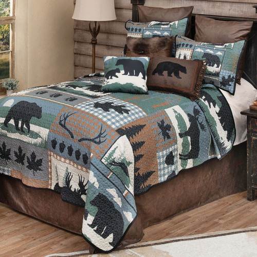 Twilight Woods Bear & Moose Quilt Set - King