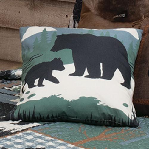 Twilight Woods Bear & Moose Pillow