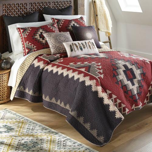 Crimson Vista Quilt Bedding Collection