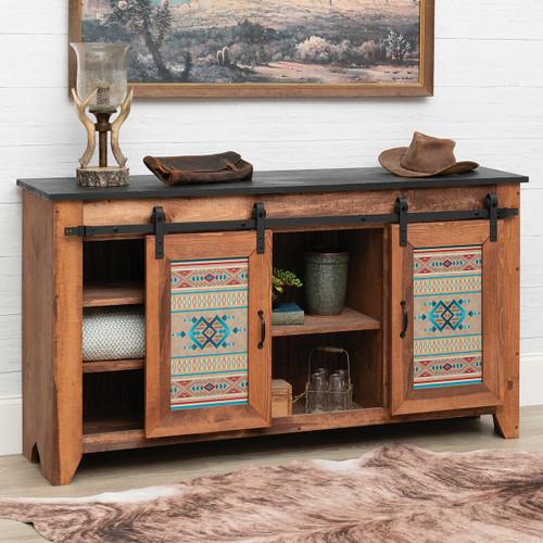 Southwest Aztec Barnwood Console Table