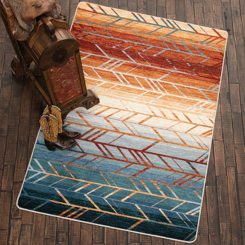 Sunset Arrows Rug - 8 Ft. Round