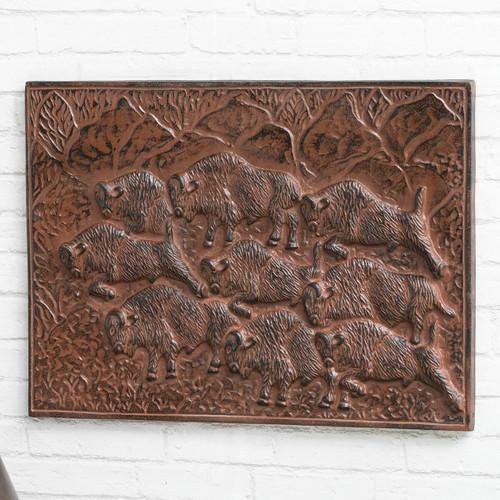 Buffalo Stampede Metal Wall Hanging