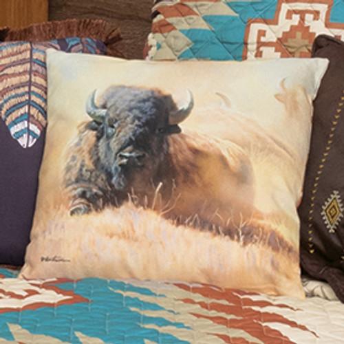 Southwest Bison Accent Pillow