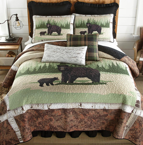 Birch Branches Bear Quilt Bedding Collection