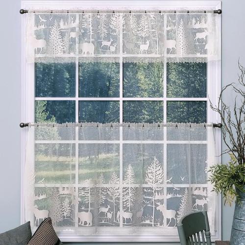 Wilderness Retreat Lace Window Treatments